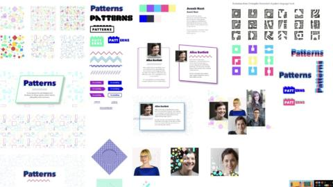 Element collage for the first Patterns day