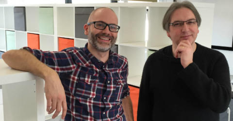 James Bates & Jeremy Keith working at Suffolk Libraries