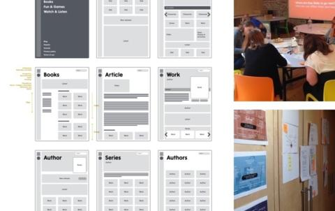 Screenshots of wireframes.