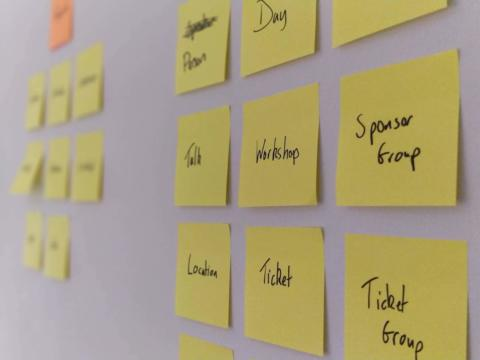 Post-its with entities and endpoints