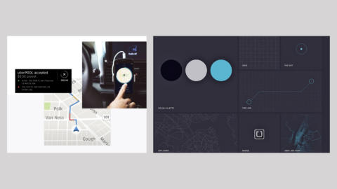 A montage of interface elements from Uber's design system.