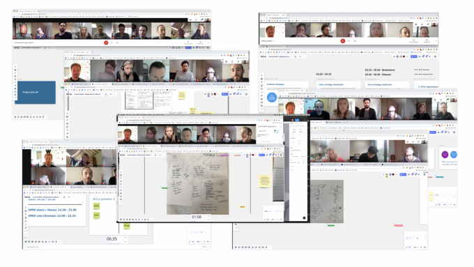 Montage of zoom calls with workshops