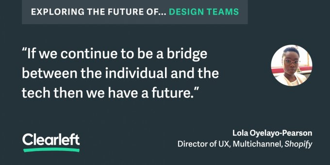 "If we continue to be the birdge between the individual and the tech then we have a future"" lola"