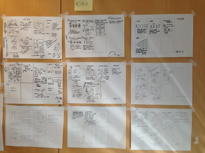 A collection of user journey prototypes for wellcome trust