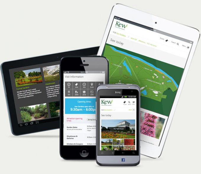 Multiple mobile and tablet devices.