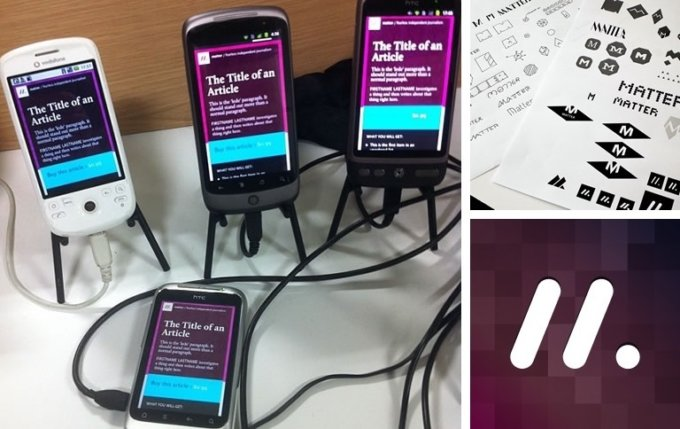 A device lab with the Matter website on multiple phones.