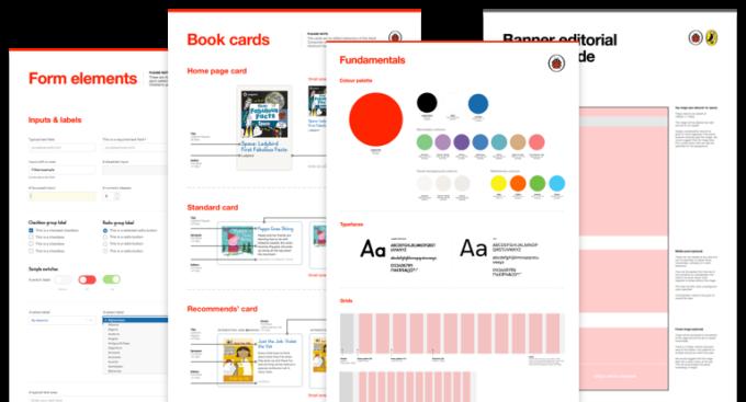Screenshots of design guides.