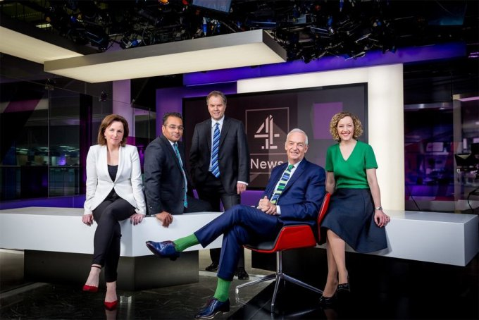 The Channel 4 News team.
