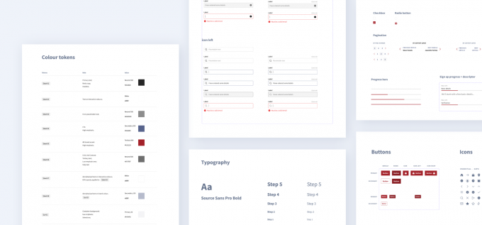 Mapping components from a design system
