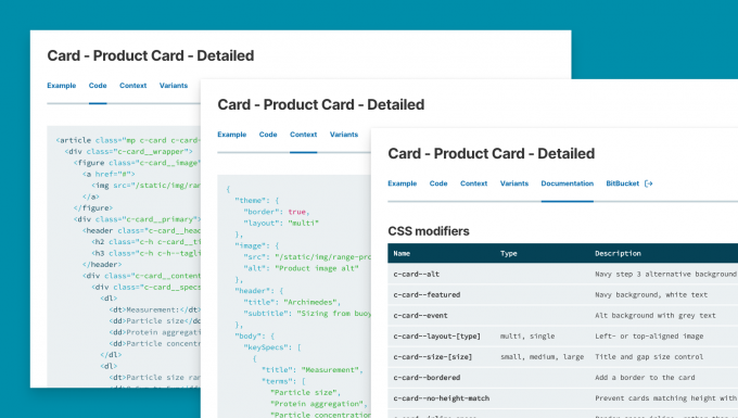 navigating the design system component code and documentation