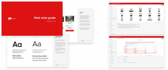 Screenshots of the digital style guide.