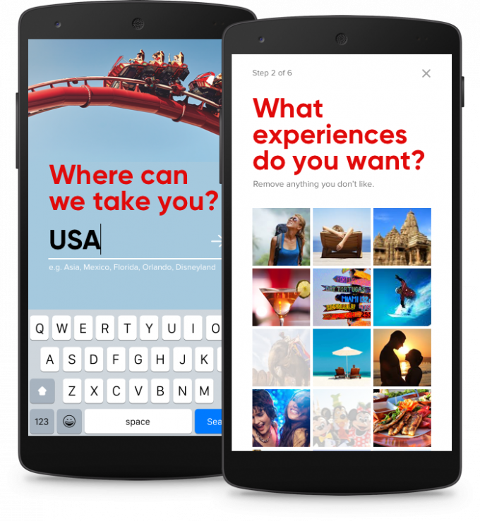 A concept for Virgin Holidays that helps users choose a holiday experience that will suit them