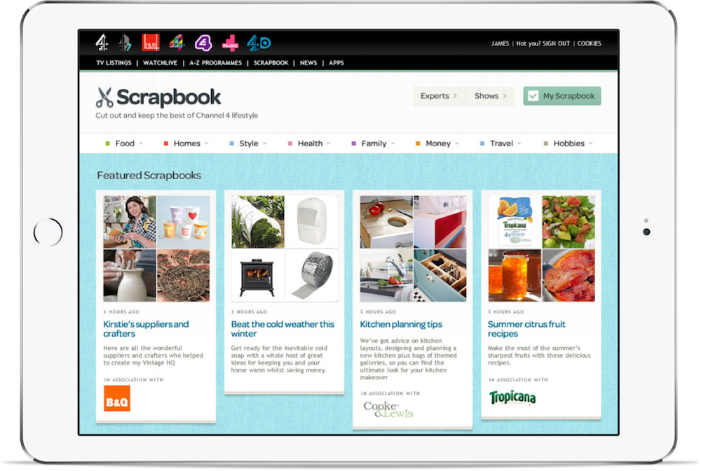 A screenshot of Scrapbook.
