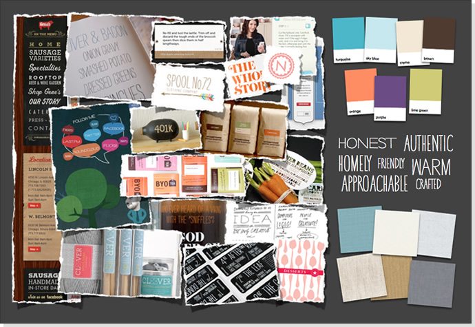 Mood board for Family Nest