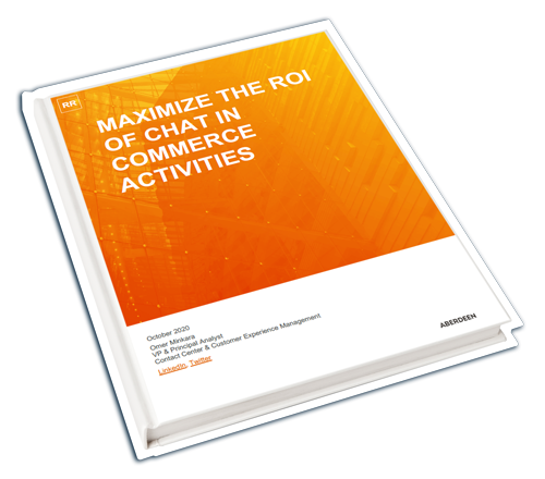 Aberdeen Research Report: Maximize the ROI of Chat in Commerce Activities