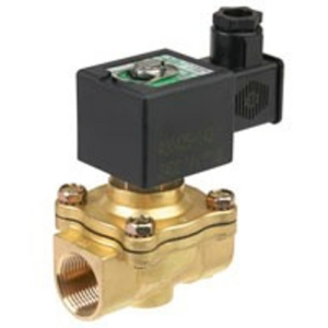 "3/8"" Screwed BSPT 2/2 Normally Closed Brass Solenoid Valves 24VDC NBR Buna SCE210D00124DC 0-7 Water"