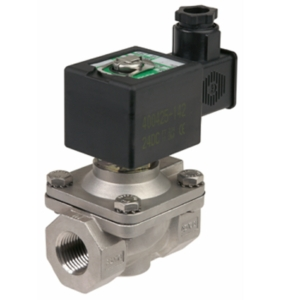 "1"" Screwed BSPP 2/2 Normally Closed Stainless Steel Solenoid Valves 24VDC NBR Buna NFB210D18924DC 0-10 Air"