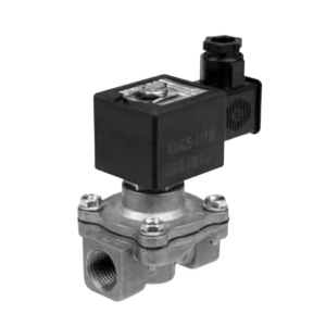 "1/2"" Screwed BSPT 2/2 Normally Closed Light Alloy Solenoid Valves 115VAC/50Hz NBR Buna SCE215C02011550 0-3 Fuel Gas"