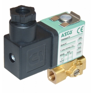 "1/8"" Screwed BSPP 3/2 Normally Closed Brass Solenoid Valves 24VAC/50-60Hz FPM Viton SCG356B004VMS245060 0-4 Air"