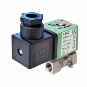 "1/8"" Screwed BSPP 2/2 Normally Closed Stainless Steel Solenoid Valves 24VDC FPM Viton SCG256B016VMS24DC 0-4 Air"