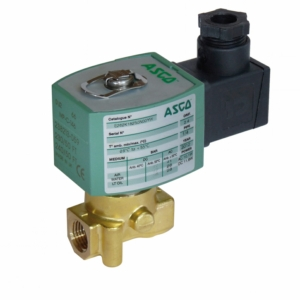 "1/4"" Screwed BSPT 2/2 Normally Open Brass Solenoid Valves 24VAC/50Hz NBR Buna E262K261S0N00FL 0-3 Air"