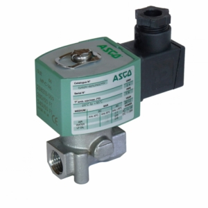 "1/4"" Screwed BSPT 2/2 Normally Closed Stainless Steel Solenoid Valves 115VAC/50Hz NBR Buna E262K184S0N01FT 0-12 Air"