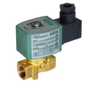 "3/8"" Screwed BSPT 2/2 Normally Closed Brass Solenoid Valves 24VAC/50Hz PTFE E263B206SXA2 0-7 Cryogenic fluids"