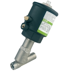 """3/8"""" Butt Weld OD ISO 6761 2/2 Normally Closed Stainless Steel Pressure Operated Valves PTFE S290A802 0-10 Air"""