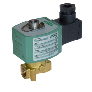 "1/4"" Screwed BSPP 3/2 Normally Open Brass Solenoid Valves 48VDC NBR Buna E314K054S0N00F9 0-7 Air"