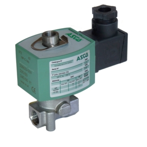 "1/4"" Screwed BSPT 3/2 Normally Closed Stainless Steel Solenoid Valves 115VAC/50Hz FPM Viton E314K068S1V00FT 0-20 Air"