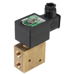 "1/2"" Screwed BSPP 3/2 Universal Brass Solenoid Valves 48VDC FPM Viton SCG327A607VMO48DC 0-10 Air"