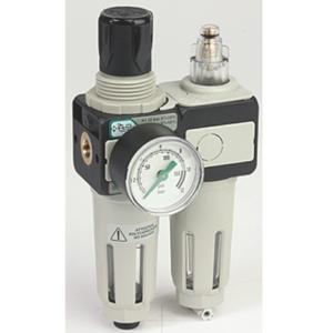"0.125"" Screwed BSPP Polyamide Air Filter Regulator Lubricator Assembly 0 To 8 Bar Asco Numatics 34225181"