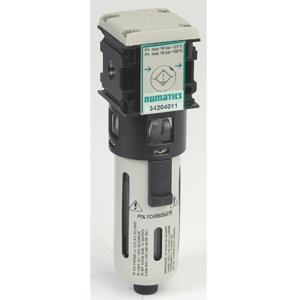 "0.25"" Screwed BSPP Polyamide Air Filter Regulator Lubricator Assembly 0 To 8 Bar Asco Numatics 34225184"