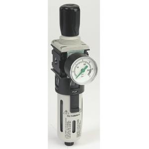 """1"""" Screwed BSPP Light Alloy Air Filter Regulator 0 To 12 Bar Asco Numatics 34207110"""