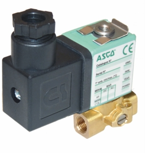 "1/8"" Screwed BSPP 3/2 Normally Closed Brass Solenoid Valves 24VAC/50-60Hz FPM Viton SCXG356B001VMS24506017777 0-9 Oil"