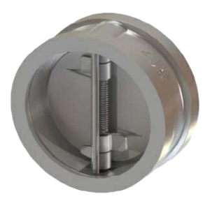 "2.5"" Duplex A995 5A Twin Plate Wafer Check Valve Buna ANSI 150 065-4107XB-2B"