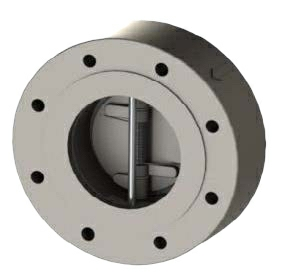"2.5"" Stainless Steel A351 CF8M Twin Plate Lugged Wafer Check Valve Buna ANSI 150 065-447LXB-2B"