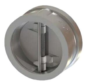"2.5"" Duplex A995 4A Twin Plate Wafer Check Valve Buna ANSI 150 065-487XB-2B"