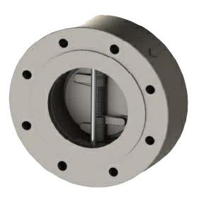 "2.5"" Duplex A995 4A Twin Plate Lugged Wafer Check Valves Viton ANSI 300 065-487LXV-4BUK"