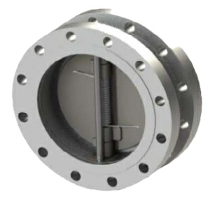 "12"" Duplex A995 4A Twin Plate Double Flanged Wafer Check Valve Metal-Metal ANSI 300 300-487UXM-4BUK"