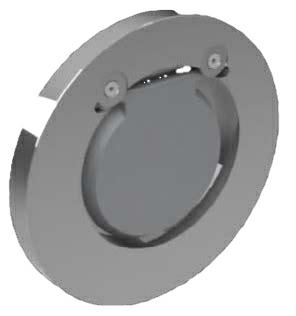 "4"" Carbon Steel Swing Type Wafer Check Valve Viton ANSI 150 100-526V-2B"