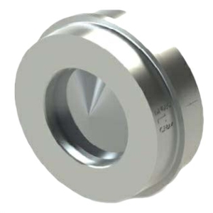 "4"" Stainless Steel A351 CF8M Sprung Disc Wafer Check Valve Viton ANSI 150 100-545XV-2B"