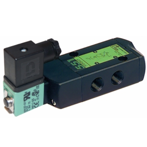"1/4"" Screwed BSPP 5/3 Light Alloy Solenoid Valves 230VAC/50-60Hz NBR Buna + Polyurethane SCG551A067MS2305060 2-10 Air"