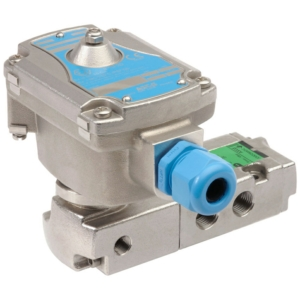 "1/4"" Screwed BSPP 3/2 - 5/2 Normally Closed Stainless Steel Solenoid Valves 24VDC NBR Buna EMXG551A40324DC18460 2-10 Air"