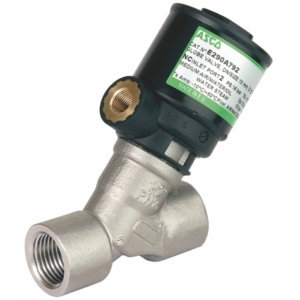 "3/8"" Screwed BSPT 2/2 Normally Open Stainless Steel Pressure Operated Valves PTFE E290A794VM 0-10 Air"
