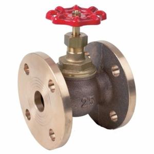 "2.5"" Bronze Standard Globe Valves Flanged PN16 Handwheel PTFE PN16"