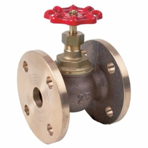 "2"" Bronze Standard Globe Valves Flanged Table F Handwheel PTFE PN16 BS10"