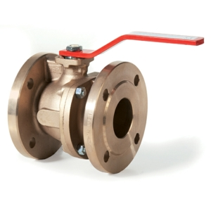 "1.25"" Flanged ANSI 150 2 PCE Full Bore Bronze Ball Valves Lever Operated PTFE PN16 ISO 5211 ASTM B62 Direct Mount"