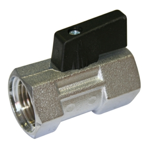 """0.25"""" Screwed BSPP 1 PCE Reduced Bore Brass Ball Valves Lever Operated PTFE PN16 Nickel Plated"""