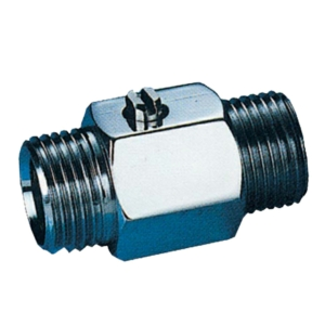 """0.375"""" Screwed BSPP MXM 1 PCE Reduced Bore Brass Ball Valves Screwdriver Slot PTFE PN16 Wras Approved Chrome Plated"""